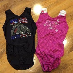 Two adult medium gymnastics leotards